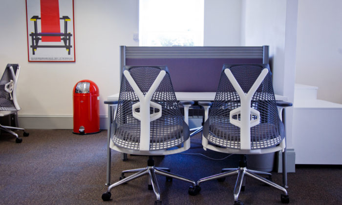 Herman Miller Sayl Chairs in Office